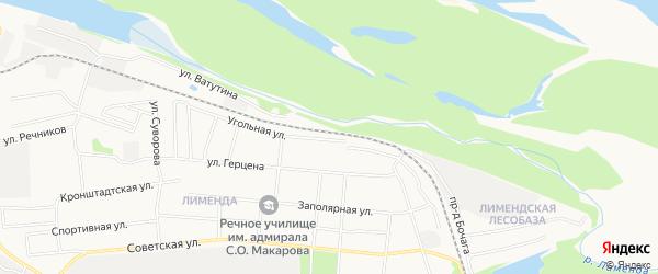 ГСК N11 на карте Угольной улицы с номерами домов