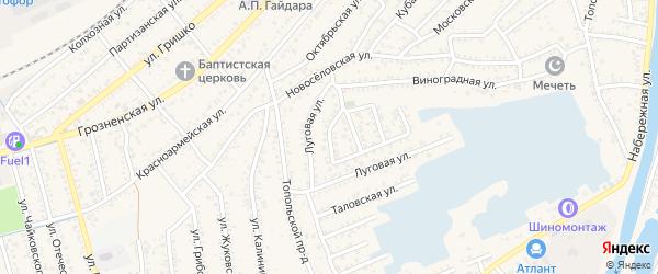 Проезд Крутова на карте Кизляра с номерами домов