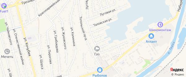 Интернациональная улица на карте Кизляра с номерами домов