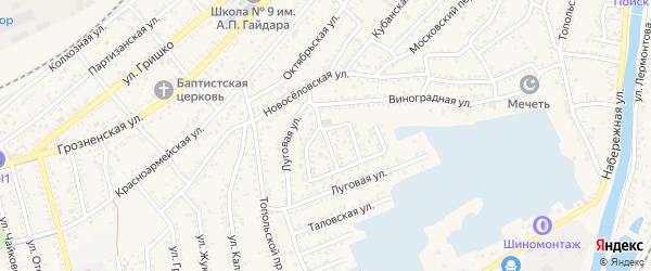 Проезд Левашова на карте Кизляра с номерами домов