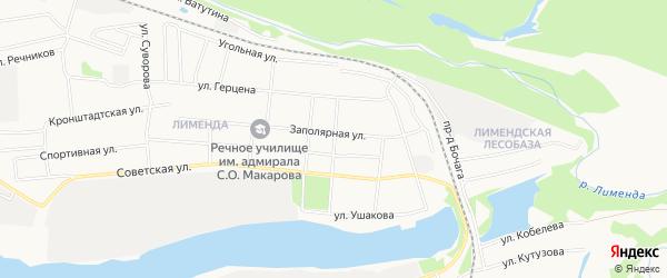 ГСК N150 на карте Садовой улицы с номерами домов