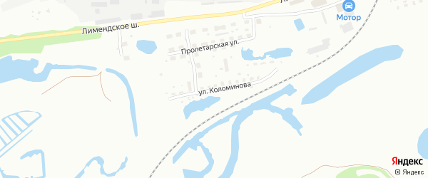 Улица Коломинова на карте Котласа с номерами домов