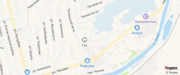 Лесная улица на карте Кизляра с номерами домов