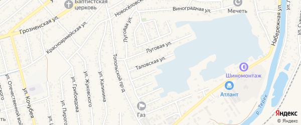 Таловская улица на карте Кизляра с номерами домов