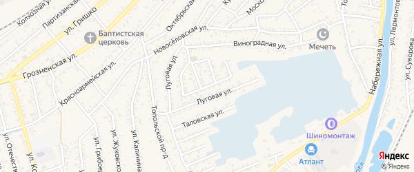 Улица Дружбы на карте Кизляра с номерами домов