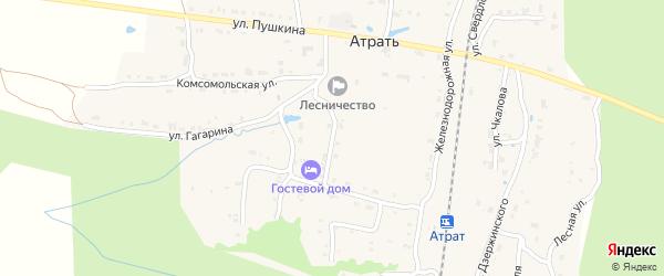 Улица Горького на карте поселка Атрать с номерами домов