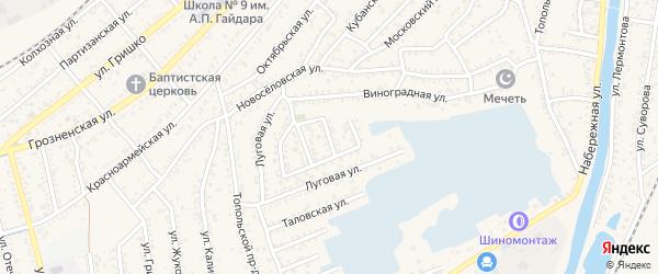 Проезд Катенина на карте Кизляра с номерами домов