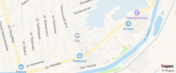 Улица Декабристов на карте Кизляра с номерами домов