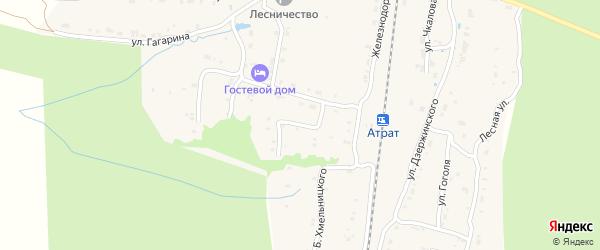 Переулок Лазо на карте поселка Атрать с номерами домов