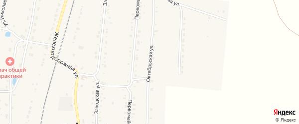 Октябрьская улица на карте поселка Алтышево с номерами домов