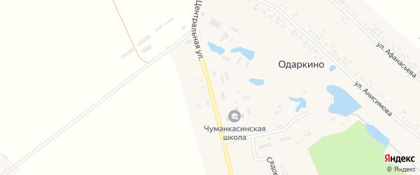 Центральная улица на карте деревни Одаркино с номерами домов