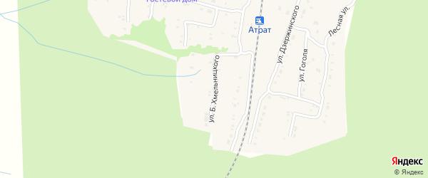 Улица Б.Хмельницкого на карте поселка Атрать с номерами домов