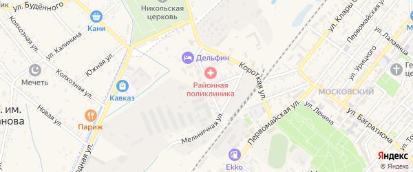 Улица Радищева на карте Кизляра с номерами домов