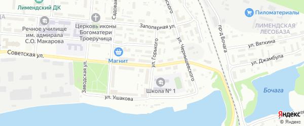 Улица Горького на карте Котласа с номерами домов