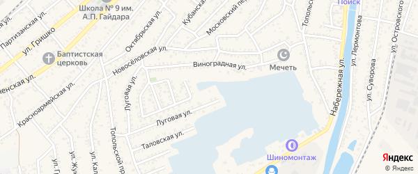 Дербентская улица на карте Кизляра с номерами домов