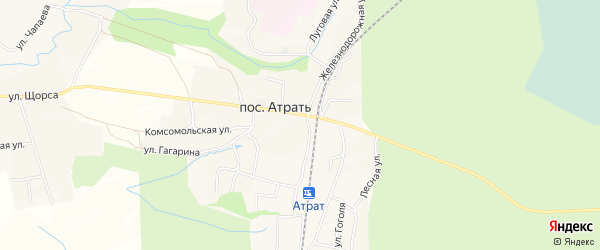 Карта поселка Атрать в Чувашии с улицами и номерами домов