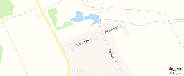 Лесная улица на карте деревни Одаркино с номерами домов