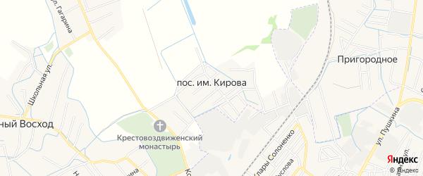 Карта поселка им Кирова в Дагестане с улицами и номерами домов