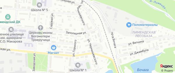 Улица Чернышевского на карте Савинского поселка с номерами домов