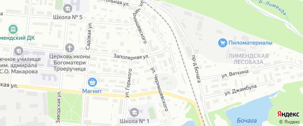 Улица Чернышевского на карте Котласа с номерами домов