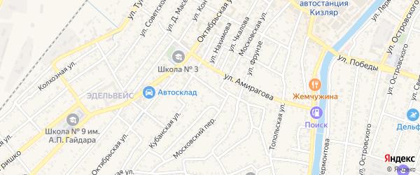 Огородная улица на карте Кизляра с номерами домов