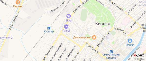 Кооперативная улица на карте Кизляра с номерами домов