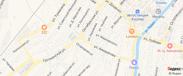 Улица Нахимова на карте Кизляра с номерами домов