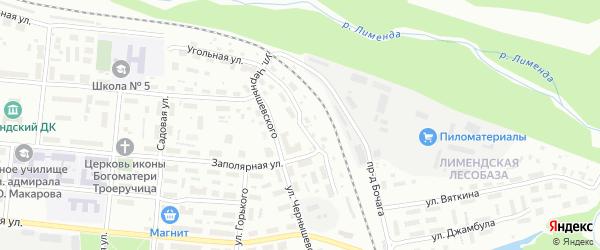 Улица З.Космодемьянской на карте Котласа с номерами домов