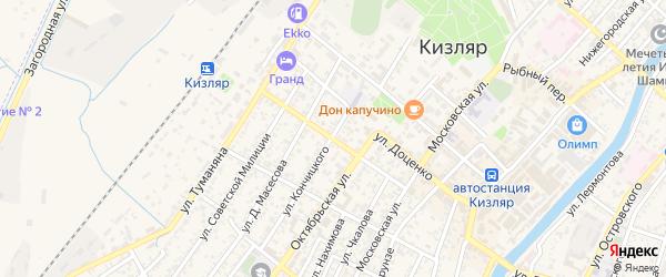 Улица Жданова на карте Кизляра с номерами домов