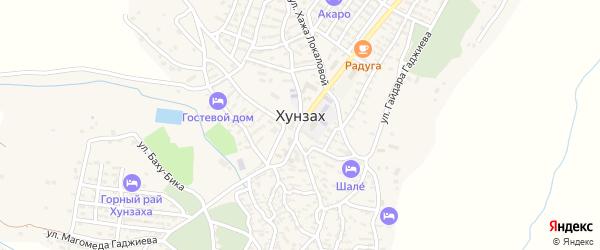 Комсомольская улица на карте села Хунзаха с номерами домов