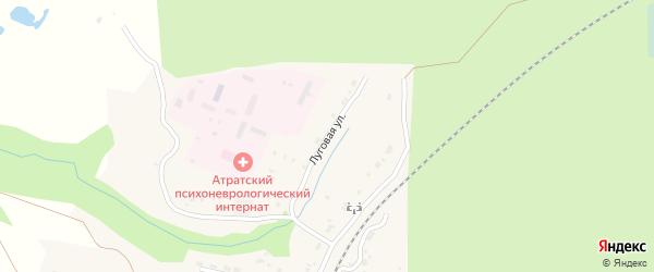 Луговая улица на карте поселка Атрать с номерами домов