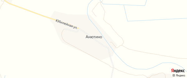 СТ Автомобилист-2 на карте поселка Анютина с номерами домов