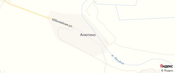 Карта поселка Анютина в Чувашии с улицами и номерами домов