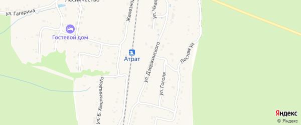 Улица Чапаева на карте села Атрать с номерами домов