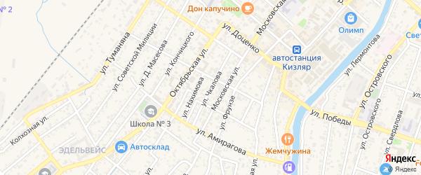 Улица Чкалова на карте Кизляра с номерами домов