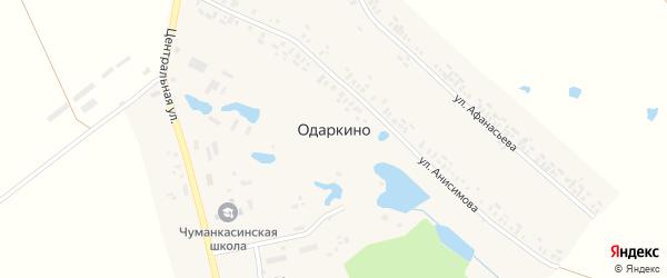 Садовая улица на карте деревни Одаркино с номерами домов