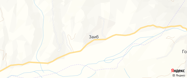 Карта села Заиба в Дагестане с улицами и номерами домов