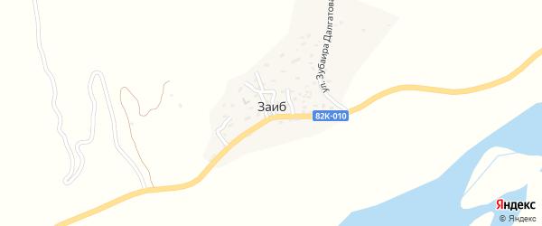 Школьная улица на карте села Заиба с номерами домов