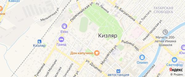 Улица М.Горького на карте Кизляра с номерами домов