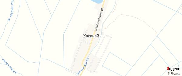 Карта села Хасаная в Дагестане с улицами и номерами домов