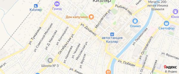 Московская улица на карте Кизляра с номерами домов