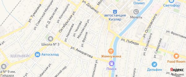 Короткий переулок на карте Кизляра с номерами домов