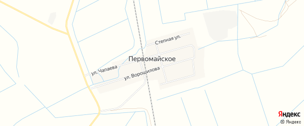 Карта Первомайского села в Дагестане с улицами и номерами домов