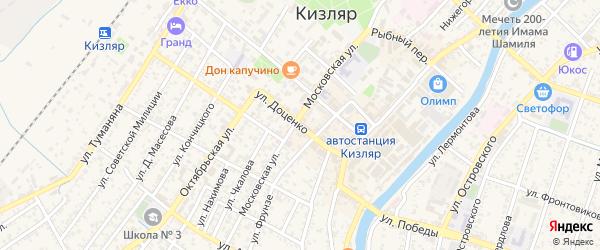 Улица Доценко на карте Кизляра с номерами домов