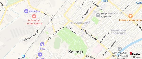 Улица Ленина на карте Кизляра с номерами домов