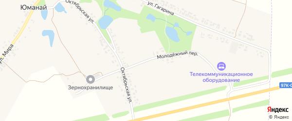 Молодёжный переулок на карте села Юманая с номерами домов