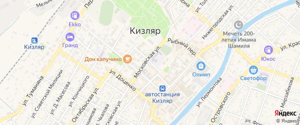 Улица Мичурина на карте Кизляра с номерами домов
