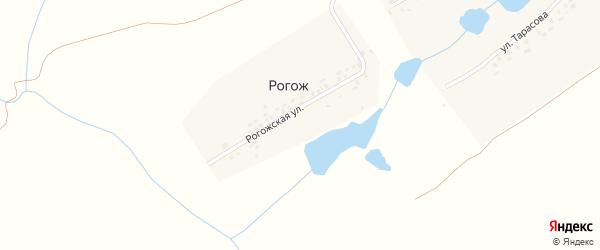 Рогожская улица на карте деревни Рогожа с номерами домов