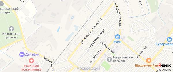 Улица К.Солоненко на карте Кизляра с номерами домов