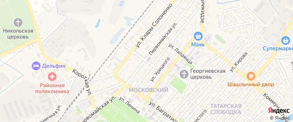 Улица Дзержинского на карте Кизляра с номерами домов